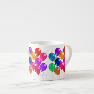 Party Balloons In A Rainbow Of Colors Espresso Cup