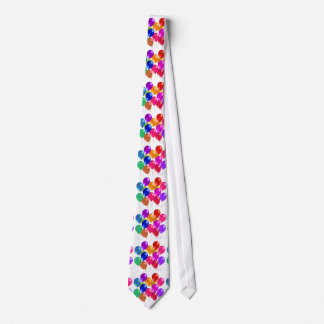 Party Balloons In A Rainbow Of Colors Neck Tie