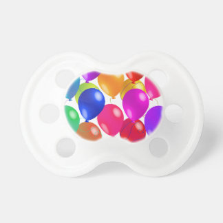 Party Balloons In A Rainbow Of Colors Pacifier