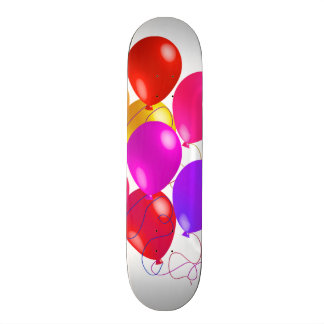 Party Balloons In A Rainbow Of Colors Skateboard Deck