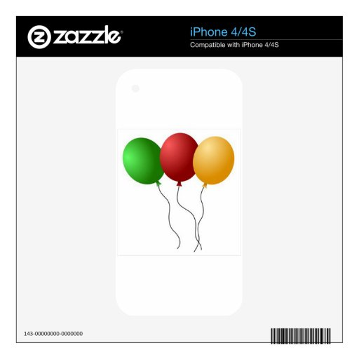 PARTY BALLOONS iPhone 4S SKIN