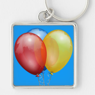 Party Balloons Keychain
