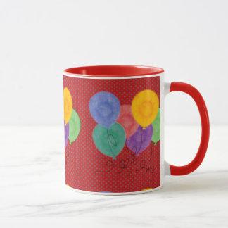 Party Balloons (red) Mug