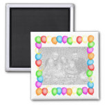 Party Balloons Refrigerator Magnet