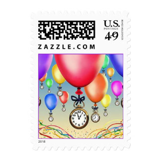 Party Balloons Time Pieces Party Time Stamps mail