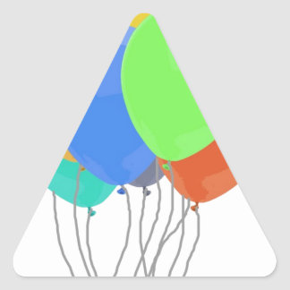 Party Balloons Triangle Sticker