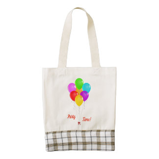 Party Balloons Zazzle HEART Tote Bag