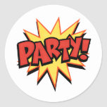 Party Bang Classic Round Sticker