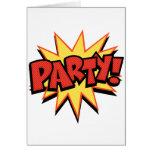 Party Bang Greeting Cards