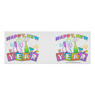 Party Banner - HAPPY NEW YEAR Poster
