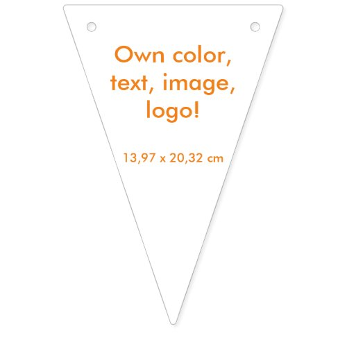 Party Banner Triangle uni White  Own Color