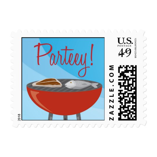 Party barbeque stamp