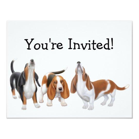 Party Bassets Invitation