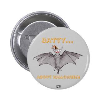 Party Bat - Batty About Halloween Button