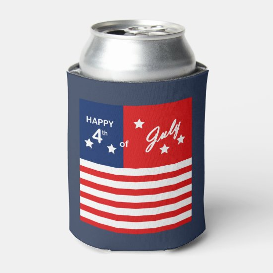 Party & BBQ July 4th Beverage Can Cooler
