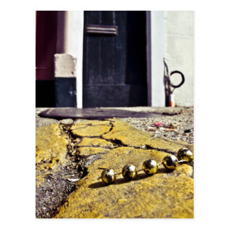 Party Beads in New Orleans Postcard