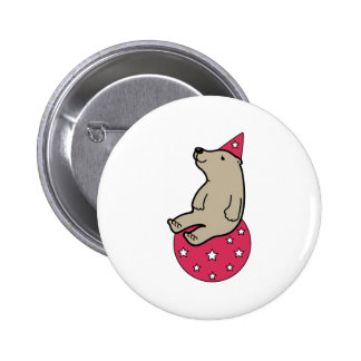 Party Bear 2 Inch Round Button