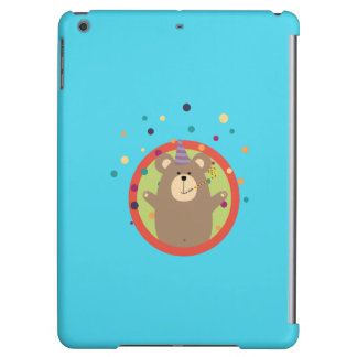 Party Bear with Spots in cirlce Q1Q iPad Air Cover