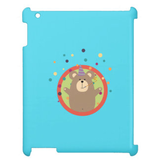 Party Bear with Spots in cirlce Q1Q iPad Case