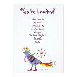 Party Bird Ukrainian Folk Art by Vera Trembach 5x7 Paper Invitation Card
