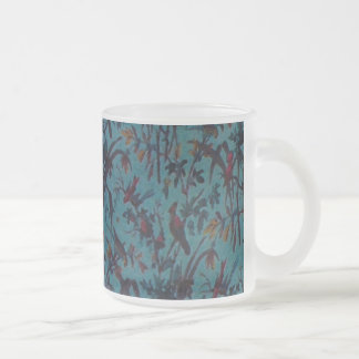 Party Birds ~ Frosted Glass Cup Mug