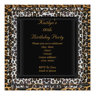 Party Birthday Wild Exotic Black Animal Card