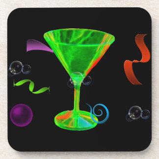 Party, black background coaster's coaster