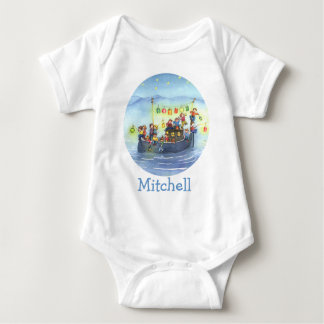 Party Boat with Children Baby Shirt