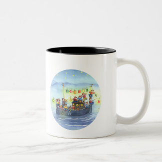 Party Boat with Children Mug