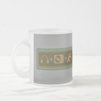 Party Breakdown Frosted Glass Coffee Mug