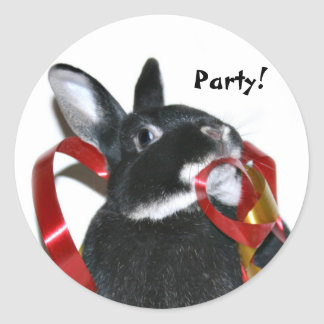 Party Bunny Classic Round Sticker
