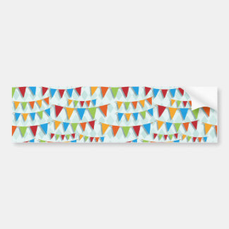 Party Bunting Bumper Sticker