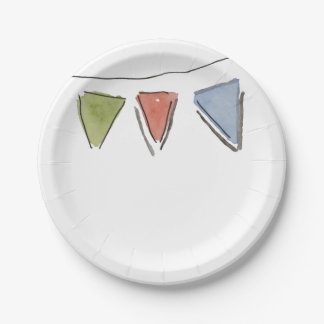 Party Bunting Paper Plate