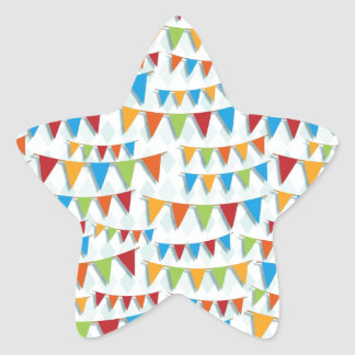 Party Bunting Star Sticker