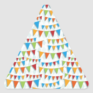 Party Bunting Triangle Sticker