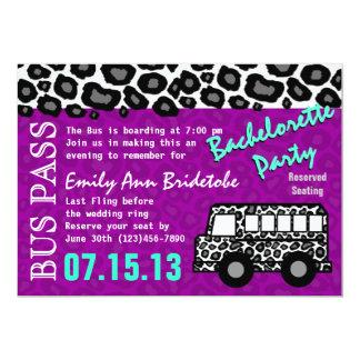 Party Bus Bachelorette Party Bash Card