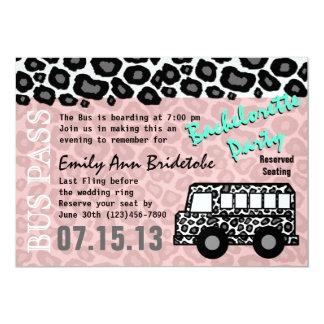 """Party Bus Bachelorette Party Bash 5"""" X 7"""" Invitation Card"""