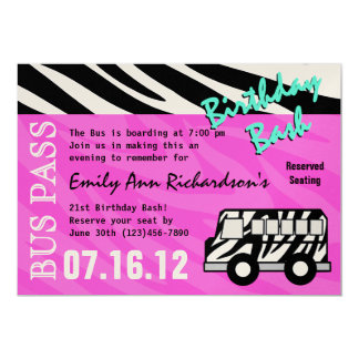 Party Bus Invitations Announcements Zazzle