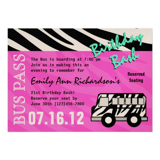 Party Bus Invitations is the best ideas you have to choose for invitation example