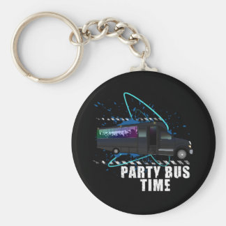 Party Bus Time Keychain