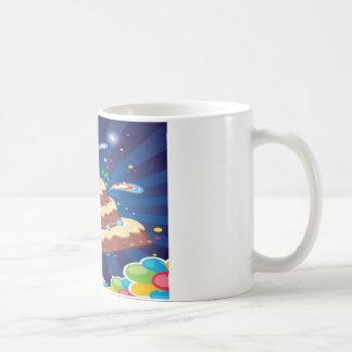 Party cake card design coffee mug