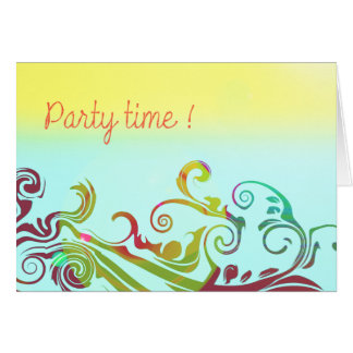 Party ! stationery note card