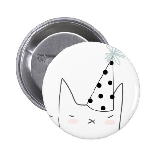 Party Cat 2 Inch Round Button