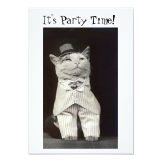 Party Cat Invitation Card