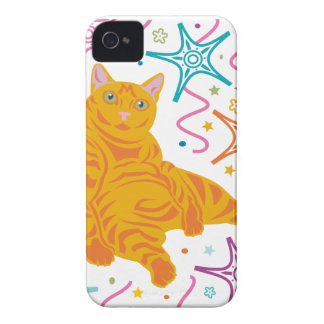 Party Cat iPhone 4 Case-Mate Cases