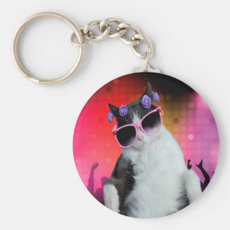 Party cat keychain