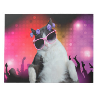 Party cat notepad