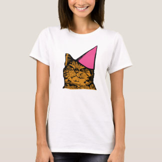 Party Cat (Pink) T-Shirt