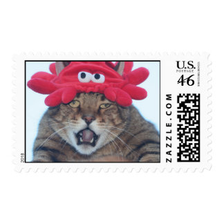 Party cat postage stamps
