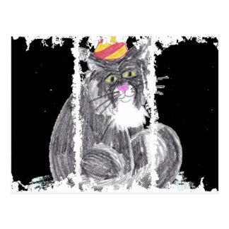 Party Cat Postcard
